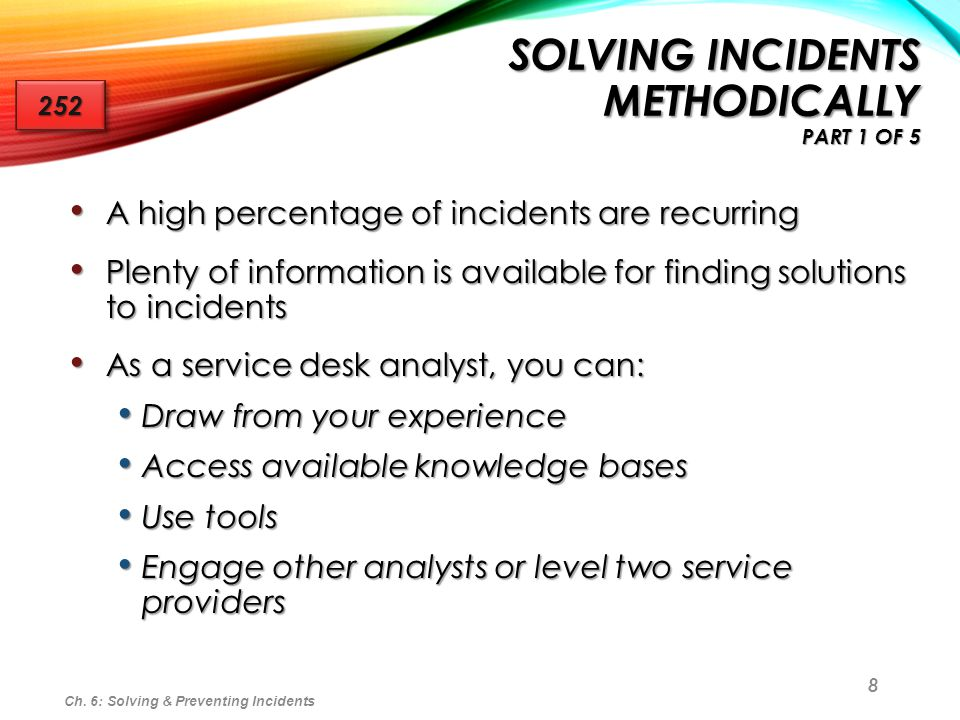 Solving Incidents Methodically part 1 of 5