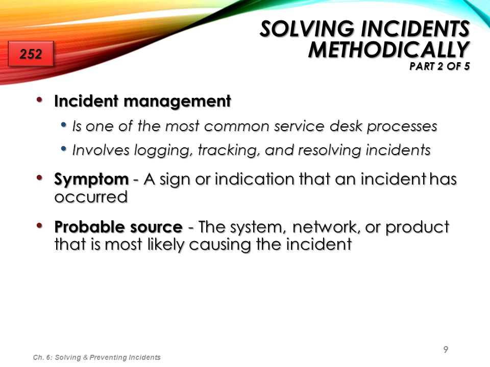 Solving Incidents Methodically part 2 of 5