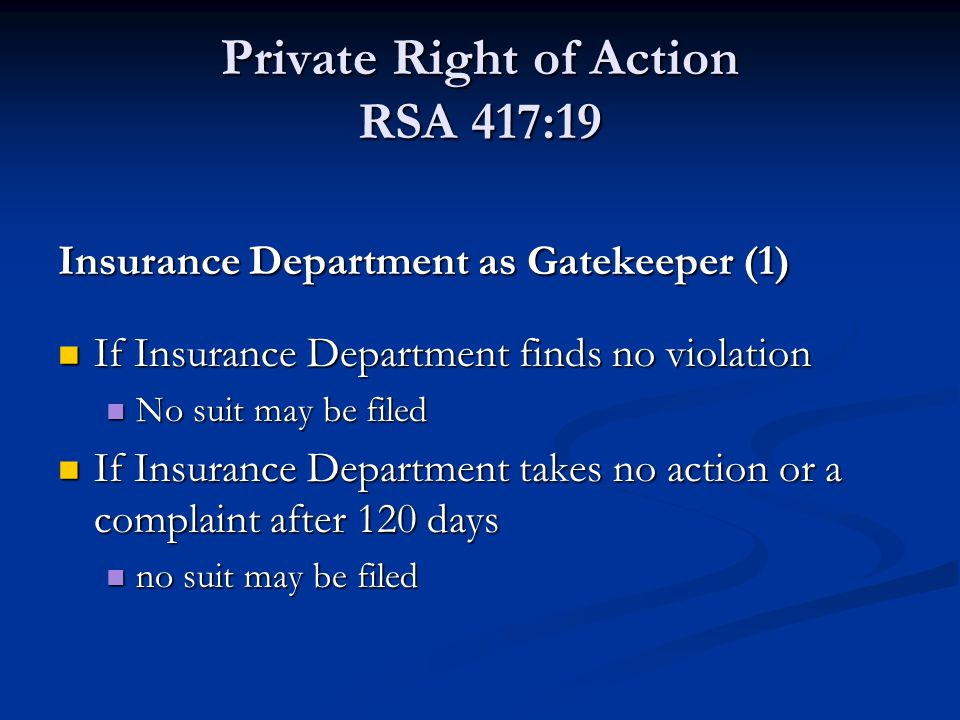 Private Right of Action RSA 417:19