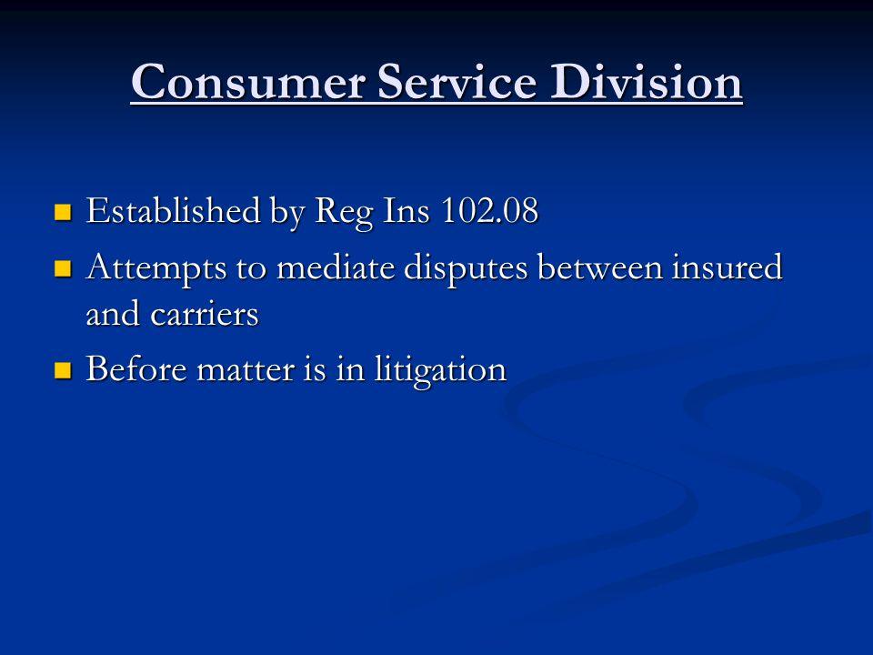 Consumer Service Division