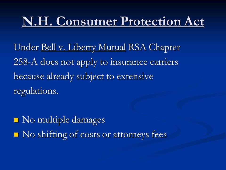 N.H. Consumer Protection Act