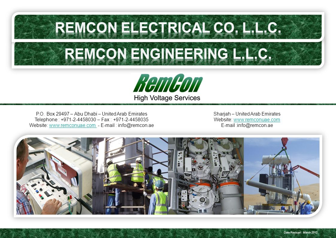 REMCON Electrical Co  L L C  Remcon engineering l l c