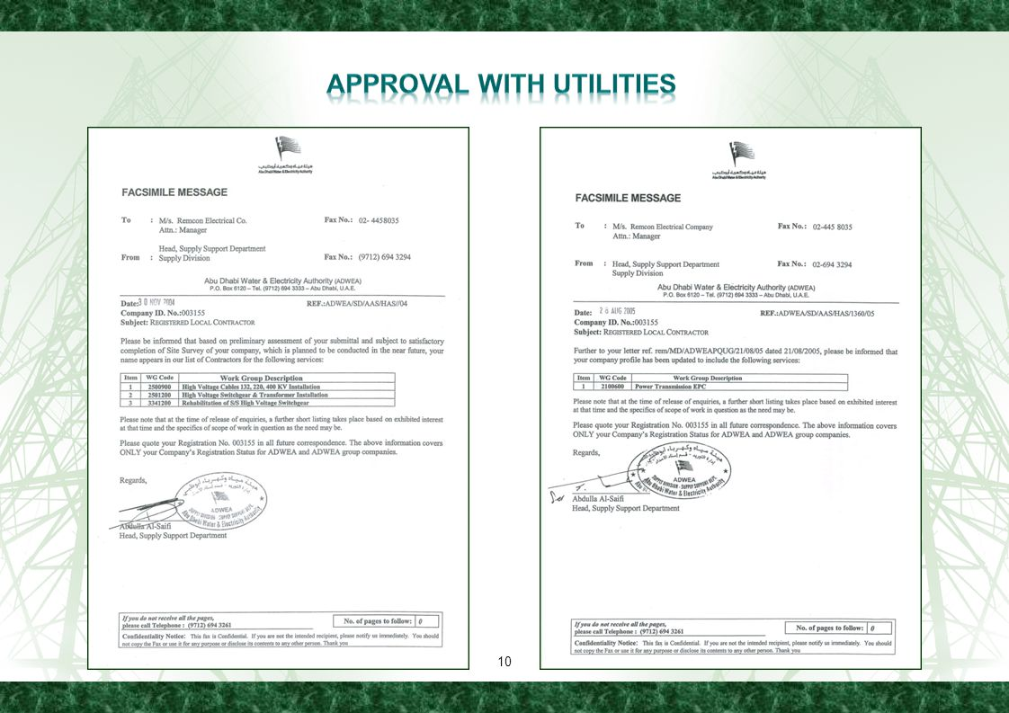 APPROVAl WITH UTILITIES