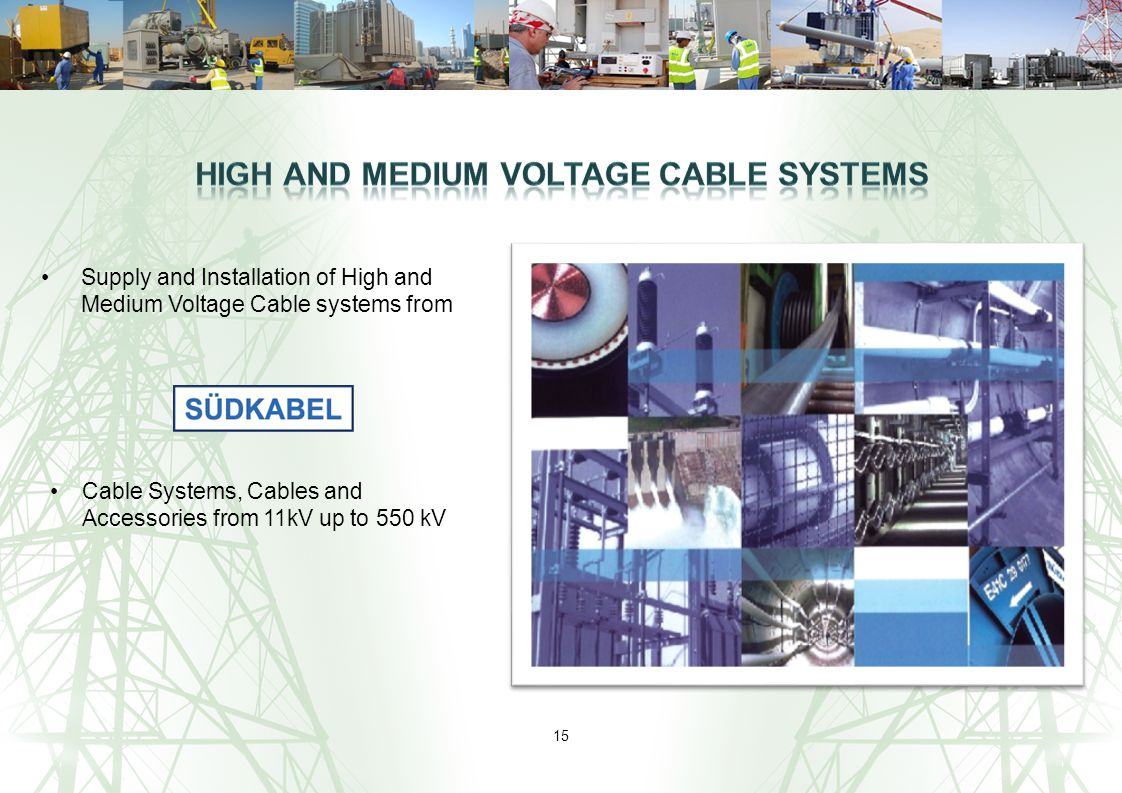 High and Medium Voltage Cable Systems
