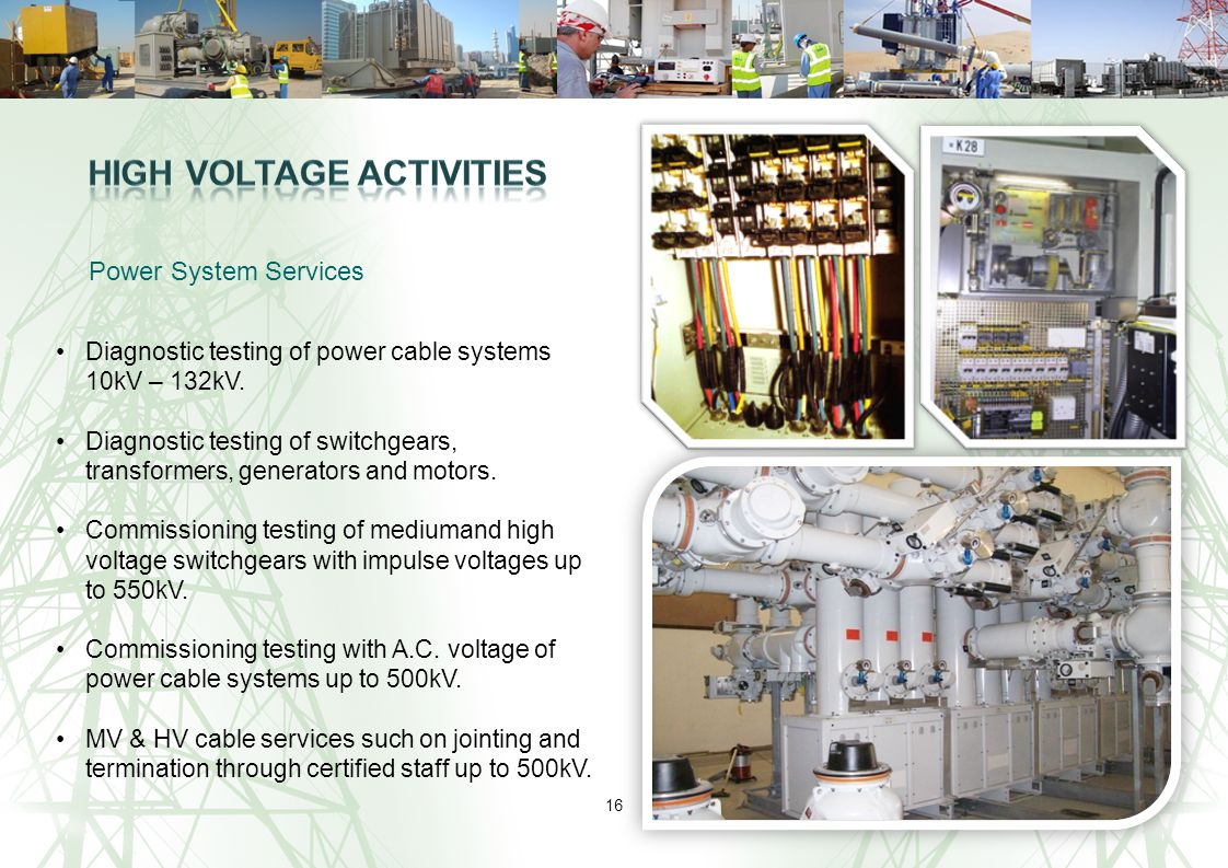 High Voltage Activities