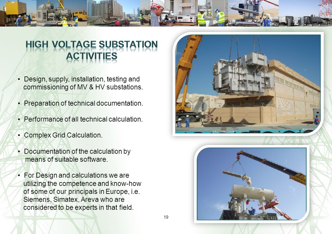 High Voltage Substation Activities