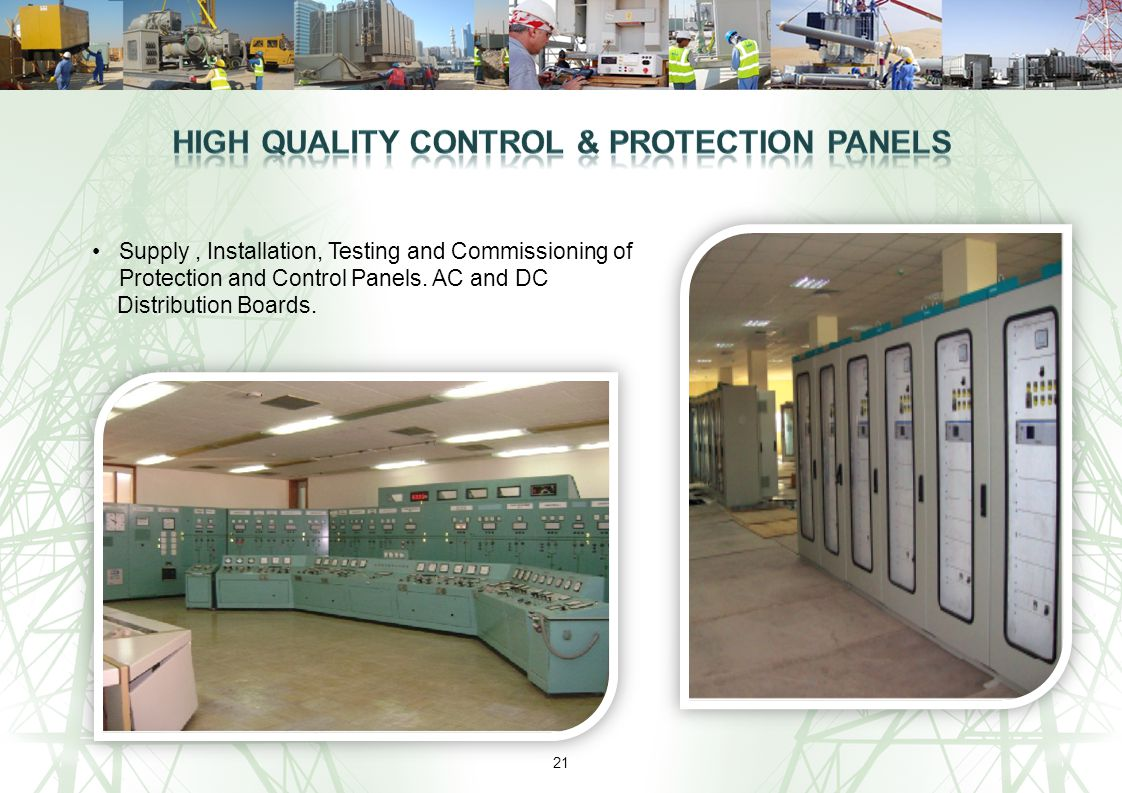 High Quality Control & Protection Panels