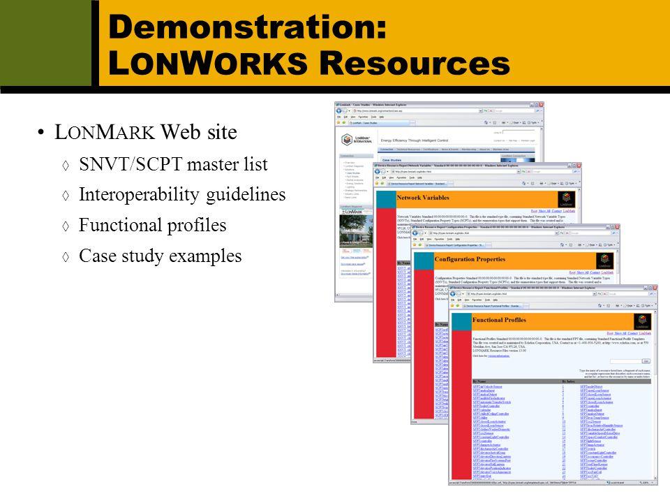 Demonstration: LONWORKS Resources