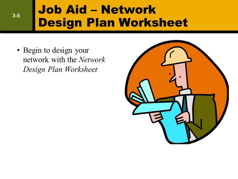 Job Aid – Network Design Plan Worksheet
