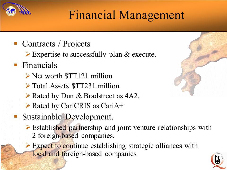 Financial Management Contracts / Projects Financials