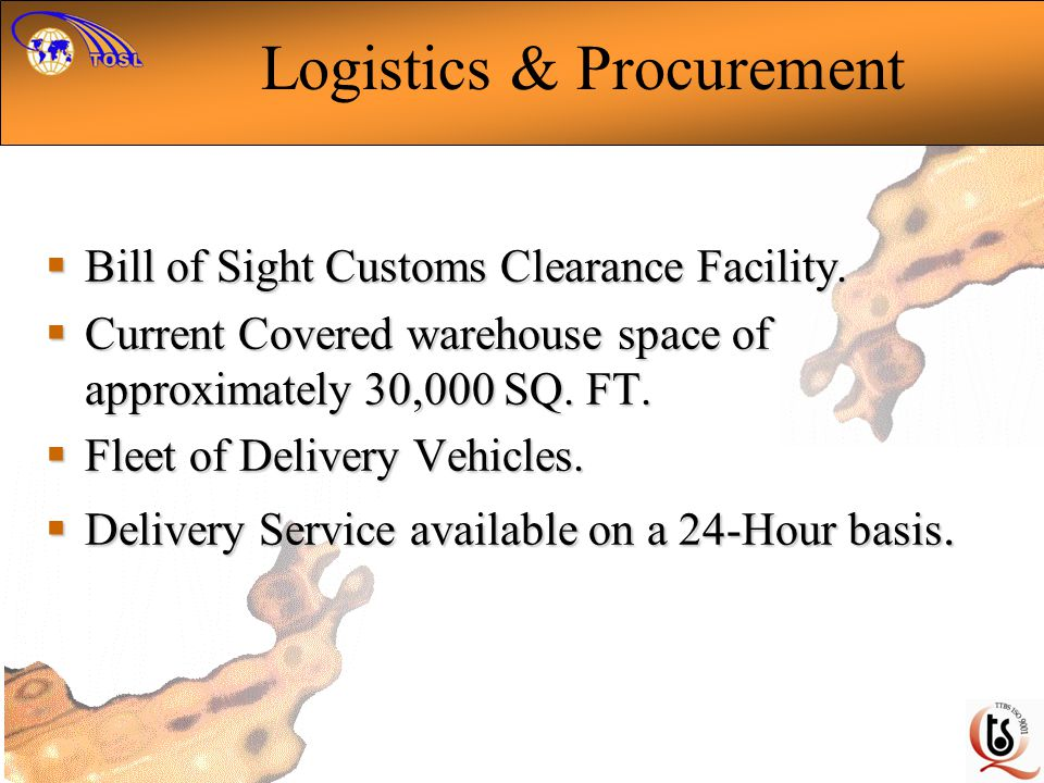 Logistics & Procurement