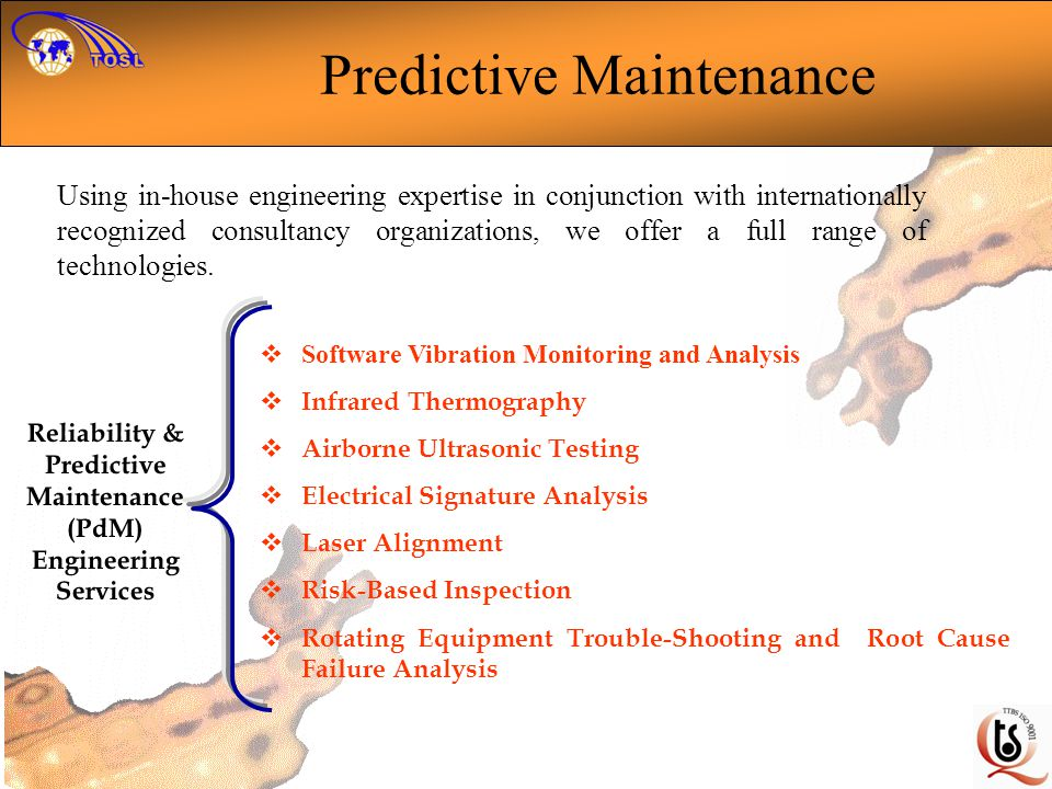 Reliability & Predictive Maintenance (PdM) Engineering Services