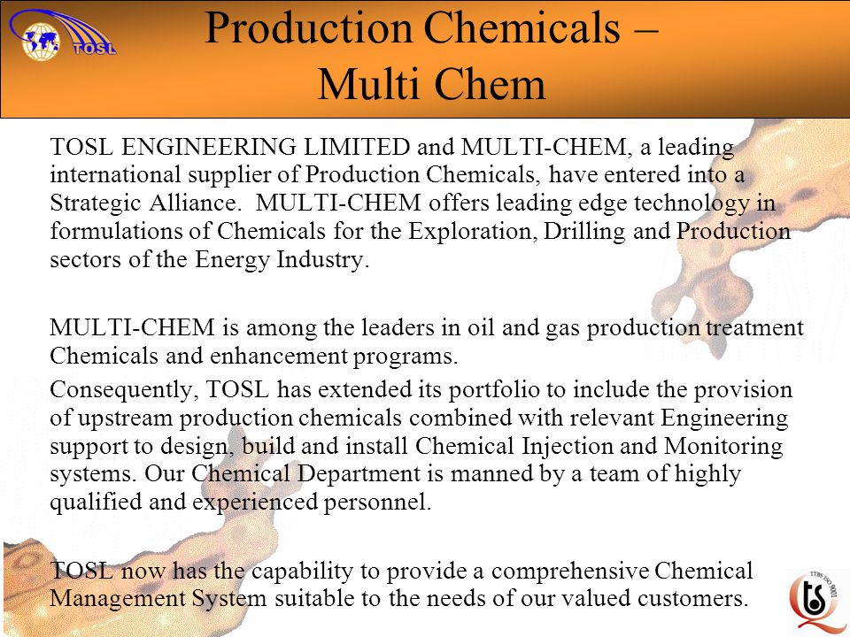 Production Chemicals – Multi Chem