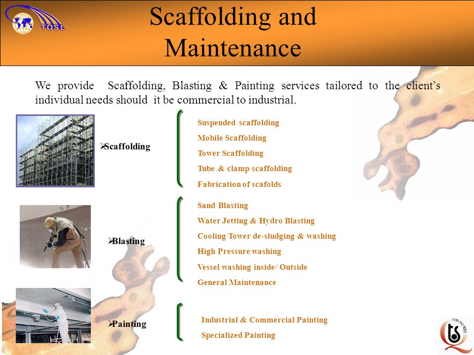 Scaffolding and Maintenance