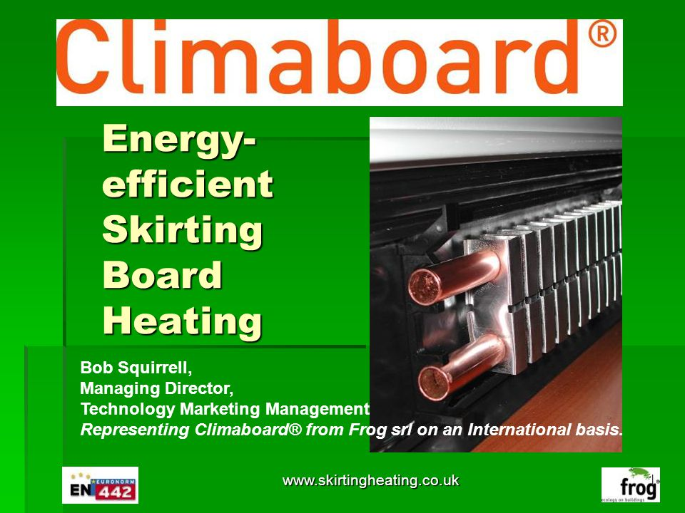 Energy-efficient Skirting Board Heating