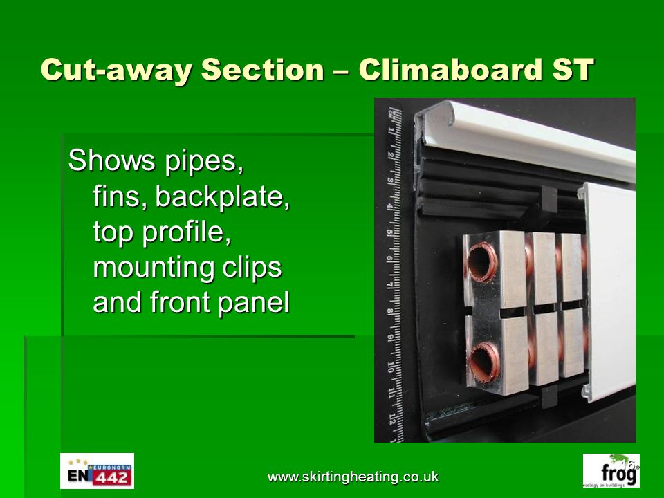 Cut-away Section – Climaboard ST