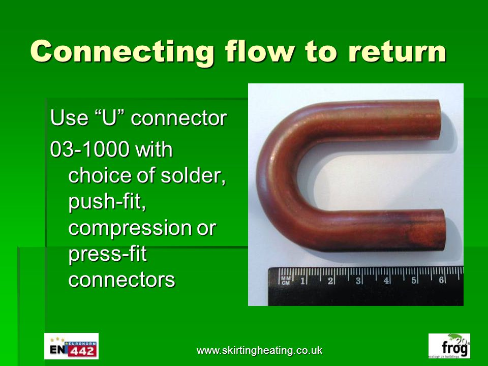 Connecting flow to return
