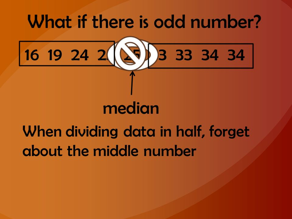 What if there is odd number