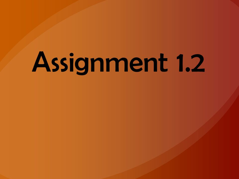 Assignment 1.2