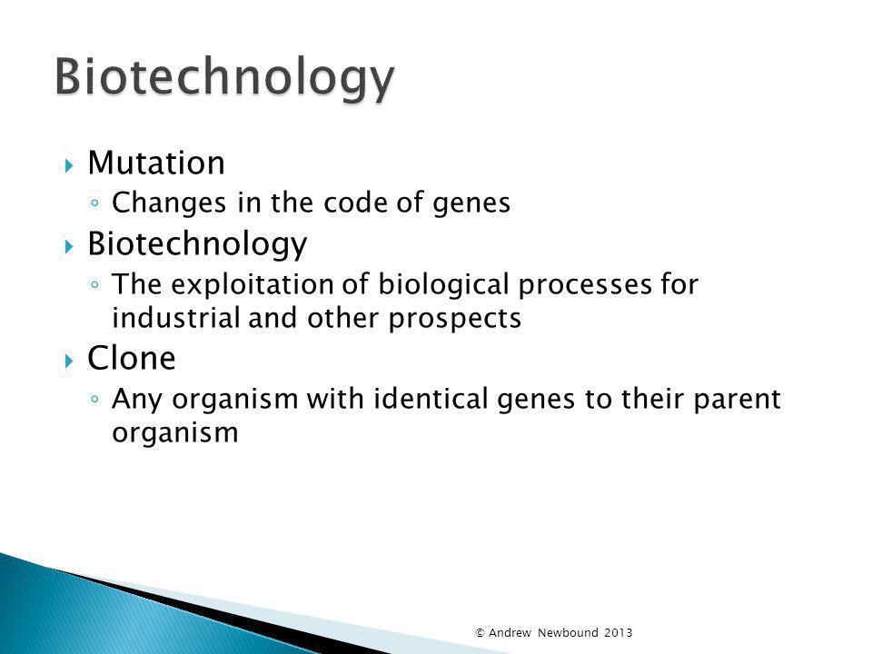 Biotechnology Mutation Biotechnology Clone