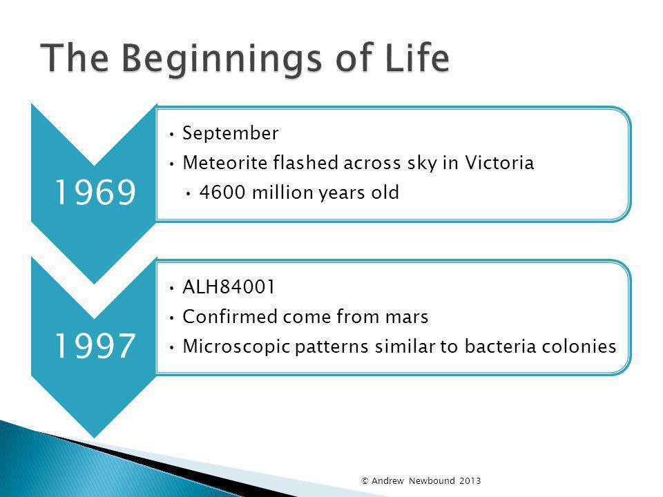 The Beginnings of Life 1969 1997 September
