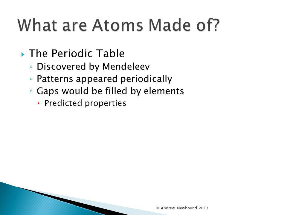 What are Atoms Made of The Periodic Table Discovered by Mendeleev