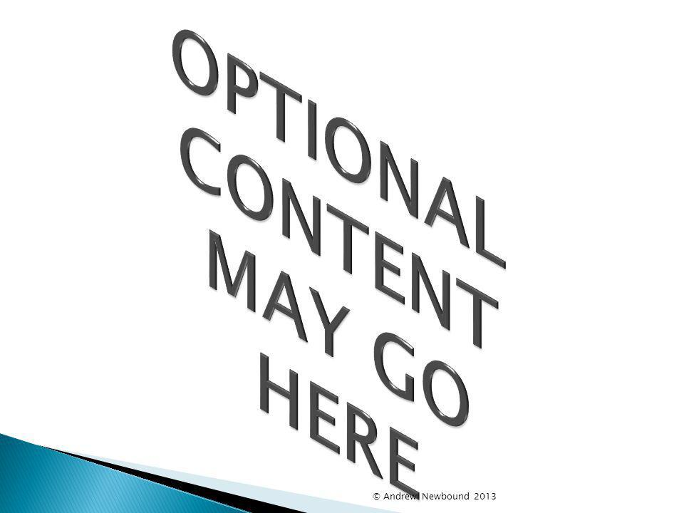 OPTIONAL CONTENT MAY GO HERE