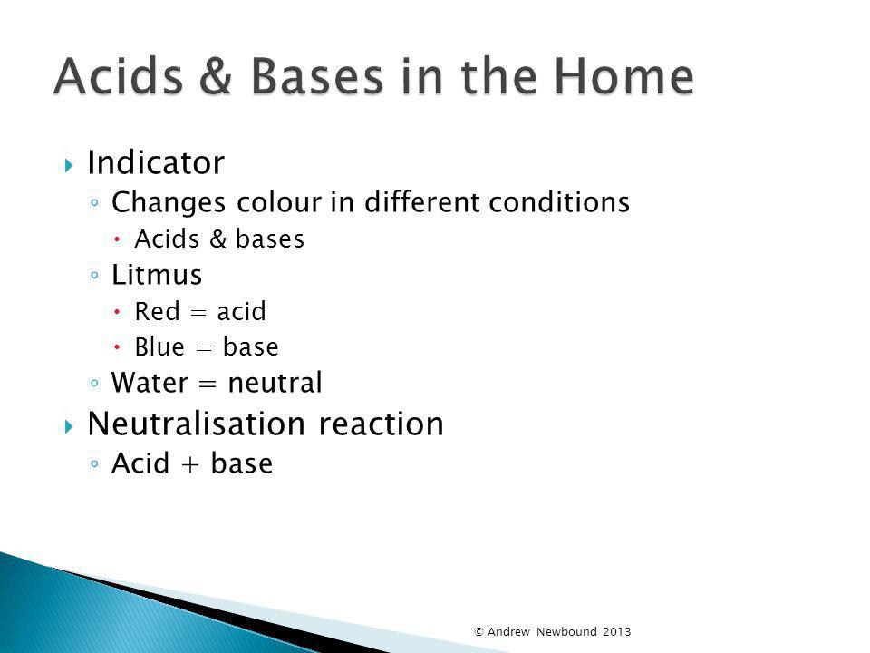 Acids & Bases in the Home