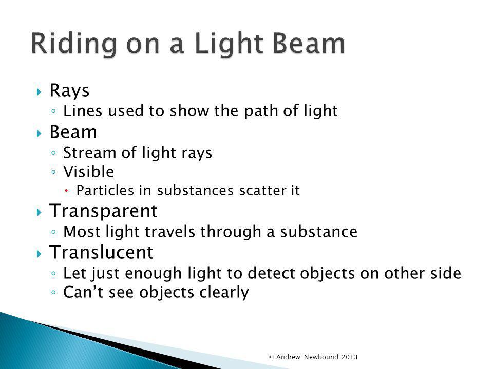 Riding on a Light Beam Rays Beam Transparent Translucent