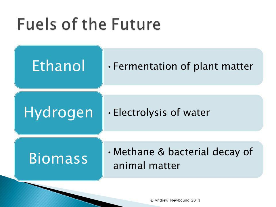 Fuels of the Future © Andrew Newbound 2013 Ethanol
