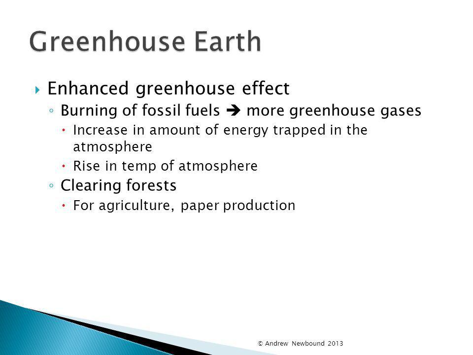Greenhouse Earth Enhanced greenhouse effect