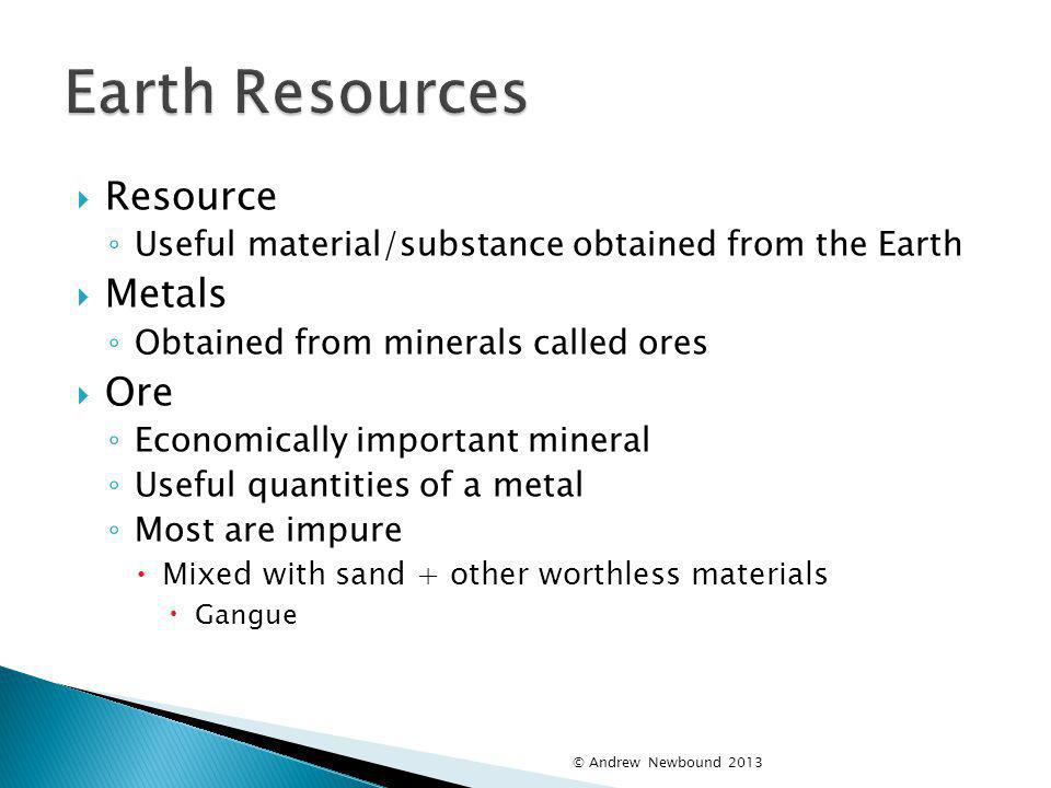Earth Resources Resource Metals Ore