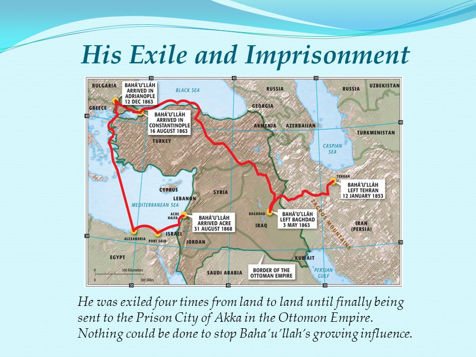 His Exile and Imprisonment