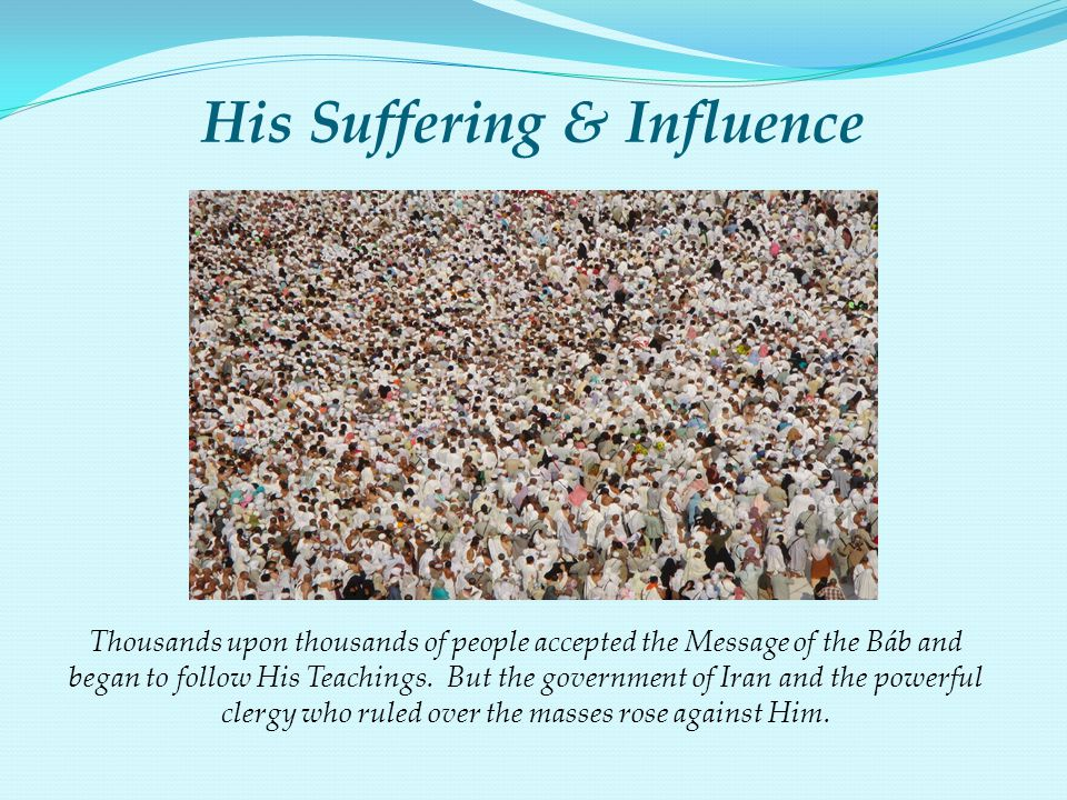 His Suffering & Influence