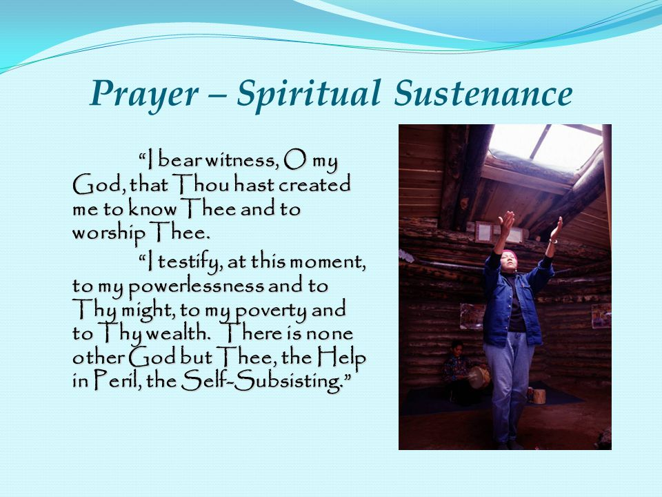 Prayer – Spiritual Sustenance