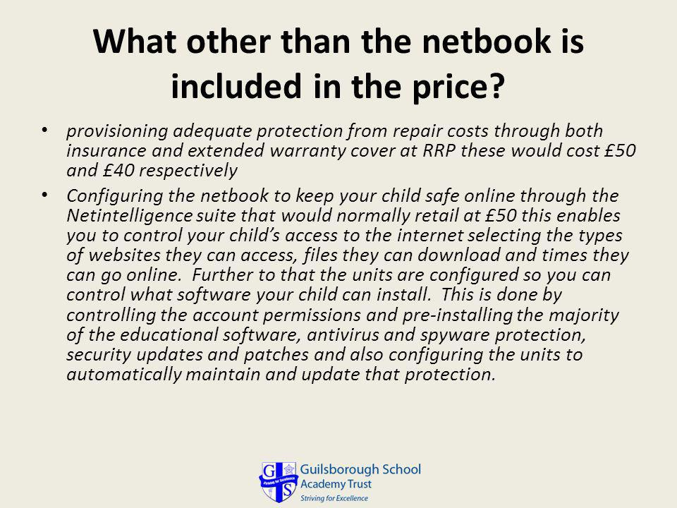 What other than the netbook is included in the price