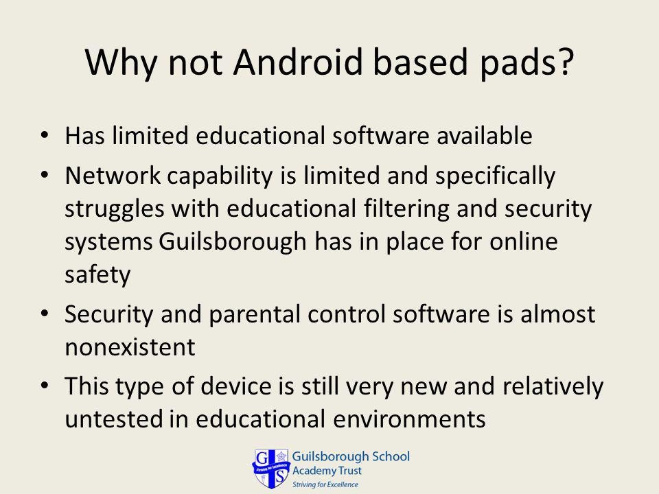 Why not Android based pads