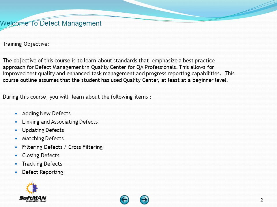 Welcome To Defect Management