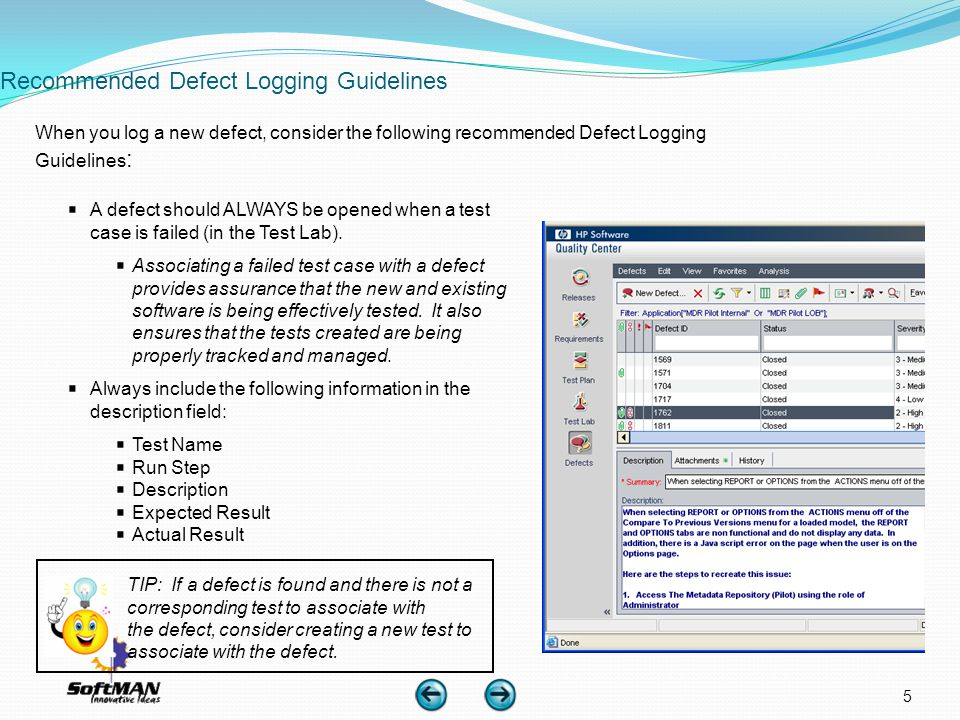 Recommended Defect Logging Guidelines