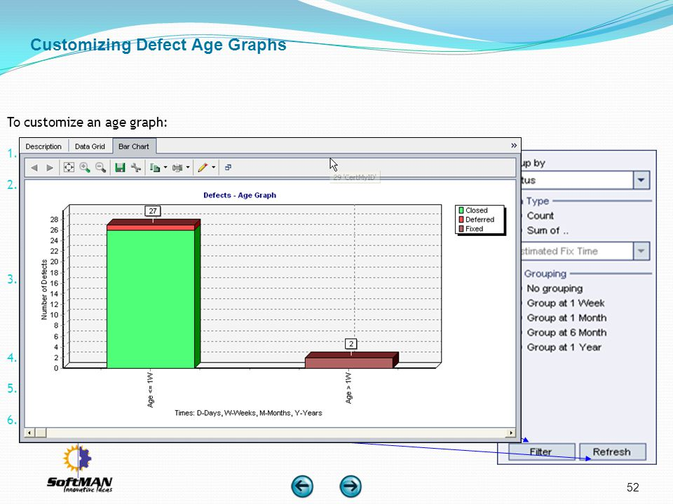 Customizing Defect Age Graphs