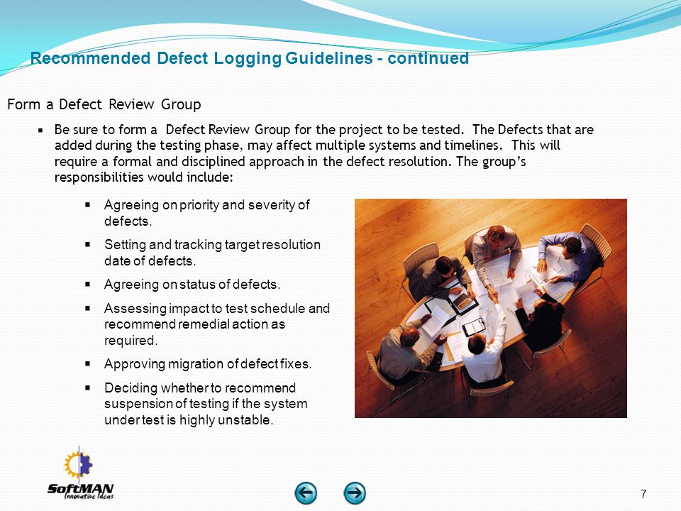 Recommended Defect Logging Guidelines - continued