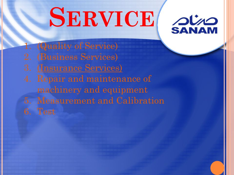 Service (Quality of Service) (Business Services) (Insurance Services)