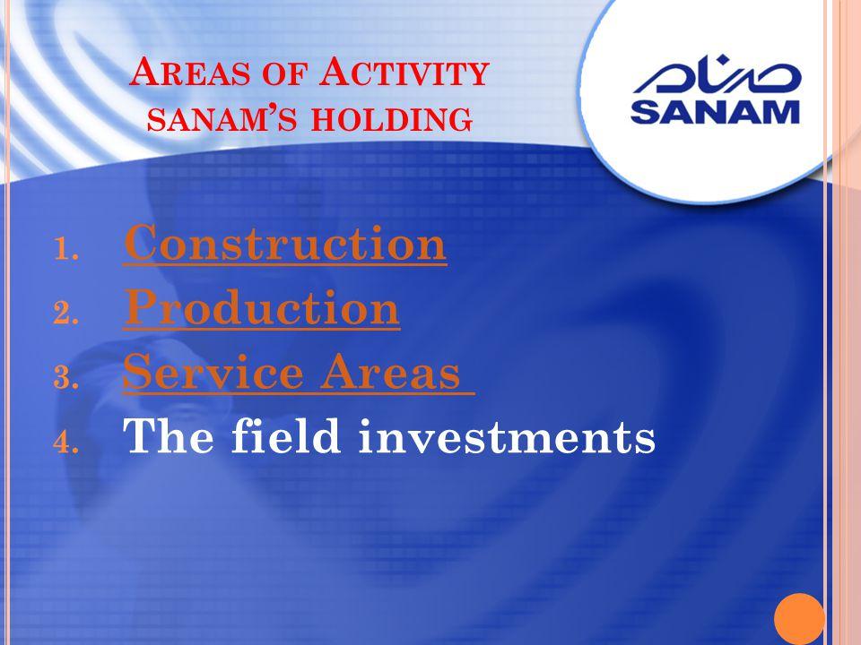 Areas of Activity sanam's holding