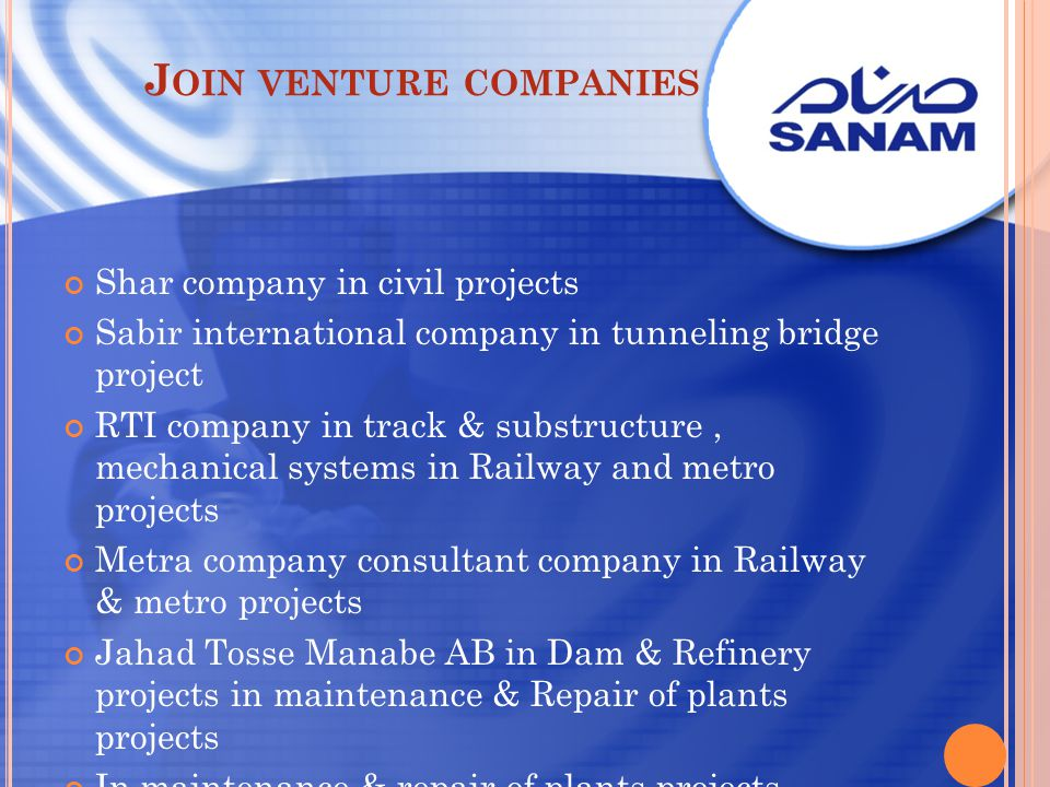 Join venture companies