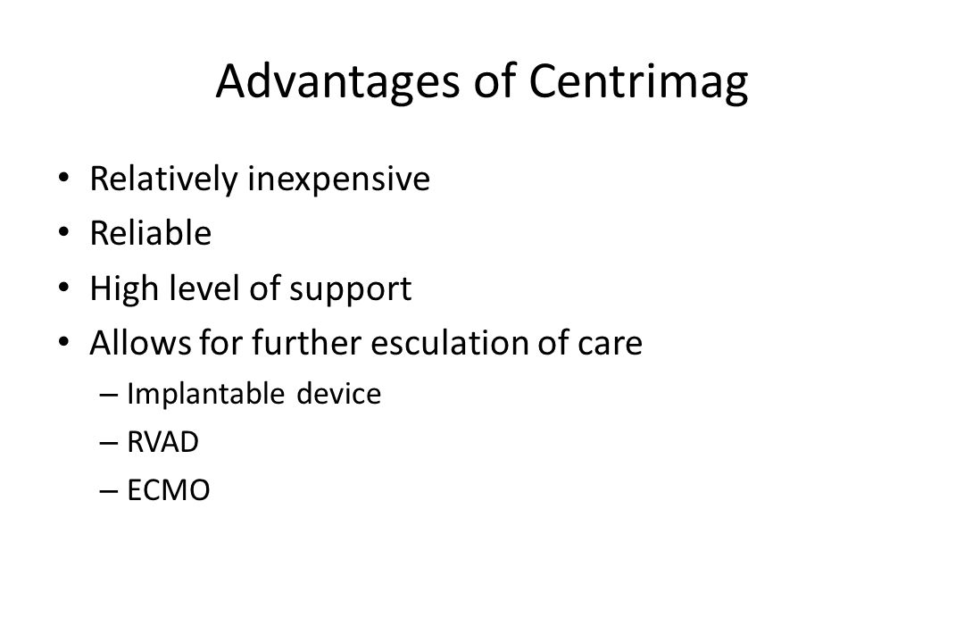 Advantages of Centrimag