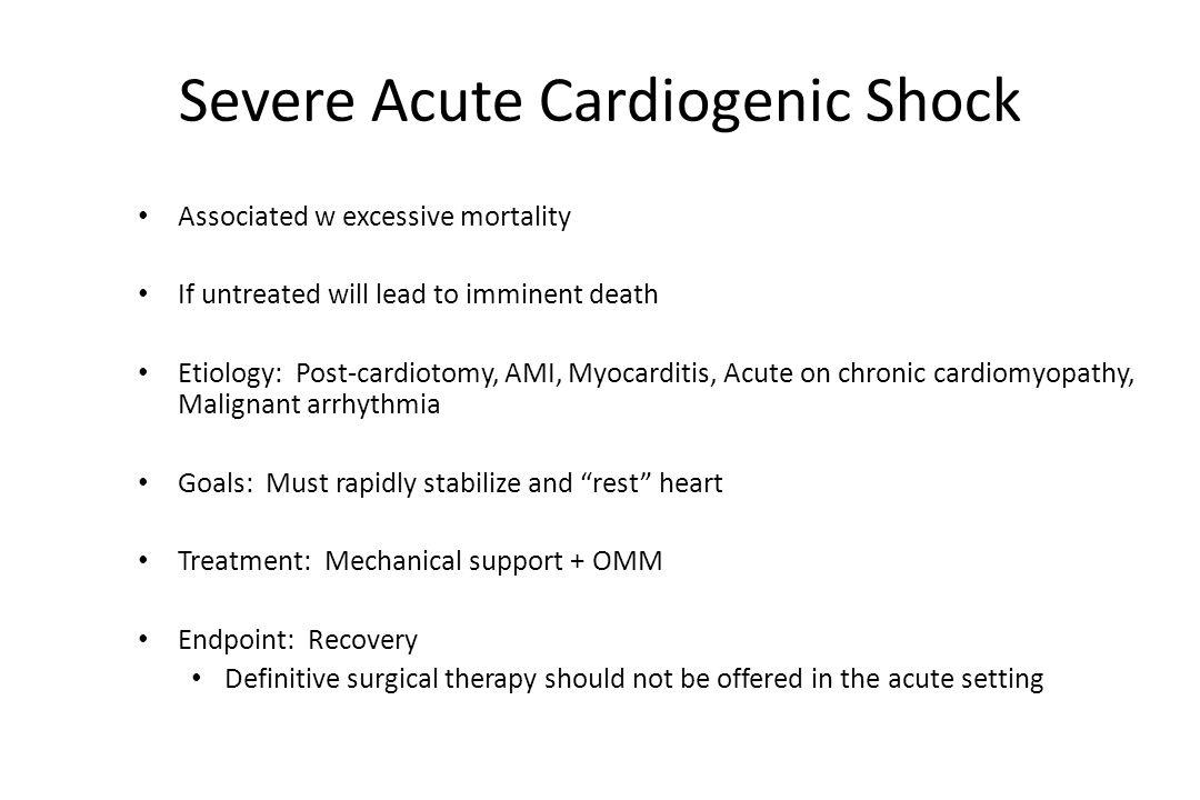 Severe Acute Cardiogenic Shock