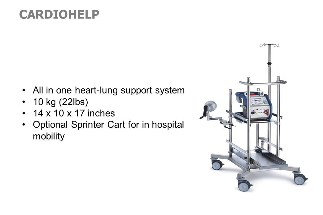 CARDIOHELP All in one heart-lung support system 10 kg (22lbs)