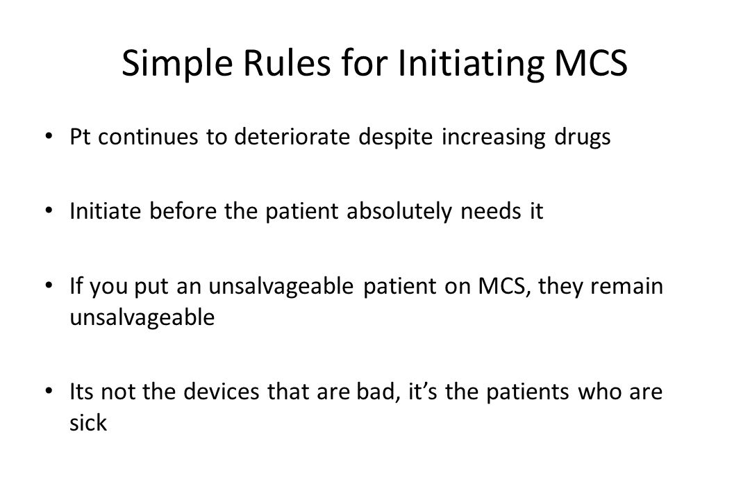 Simple Rules for Initiating MCS