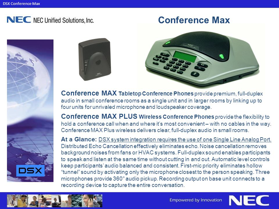 DSX Conference Max Conference Max.