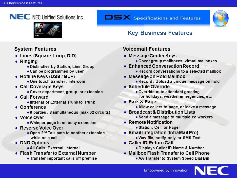 DSX Key Business Features